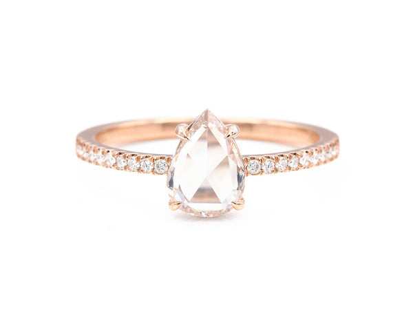 Everett Fine Jewelry 0.73-Carat Fancy Light Pink-Brown Rose Cut Diamond Solitaire