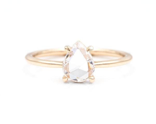 0.61-Carat Rose Cut Pear Solitaire