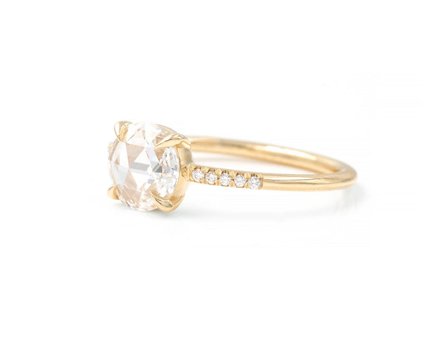 0.81-Carat Rose Cut Round Diamond Ring