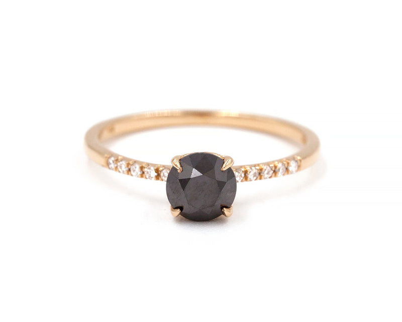 Everett Fine Jewelry Black Diamond Solitaire Ring
