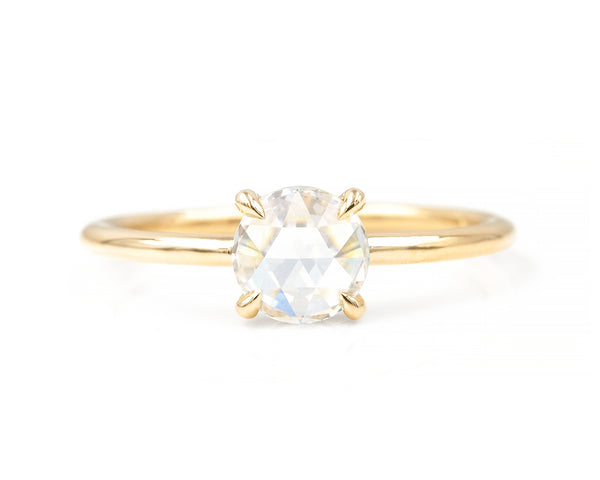0.87-Carat Round Rose Cut Diamond Solitaire