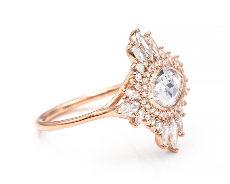 0.98-Carat Marquise Diamond Cluster Ring