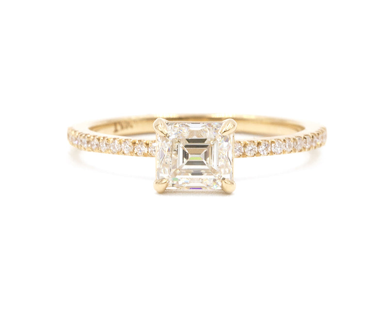 Everett Fine Jewelry 1-Carat Emerald Cut White Diamond Engagement Ring