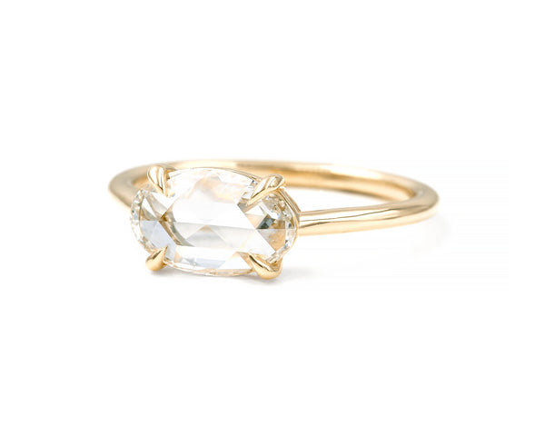 1.03-Carat Rose Cut Oval Diamond Solitaire