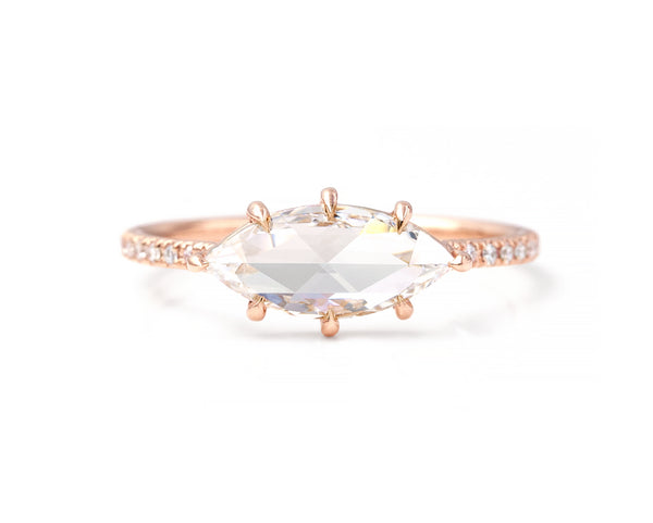 1.05 Carat East-West Marquise Ring