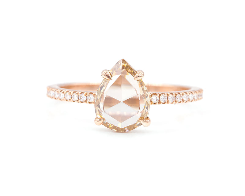 1.07-Carat Champagne Pear Diamond Ring