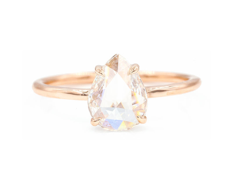 Everett Fine Jewelry 1.09-Carat Rose Cut Pear Diamond Solitaire