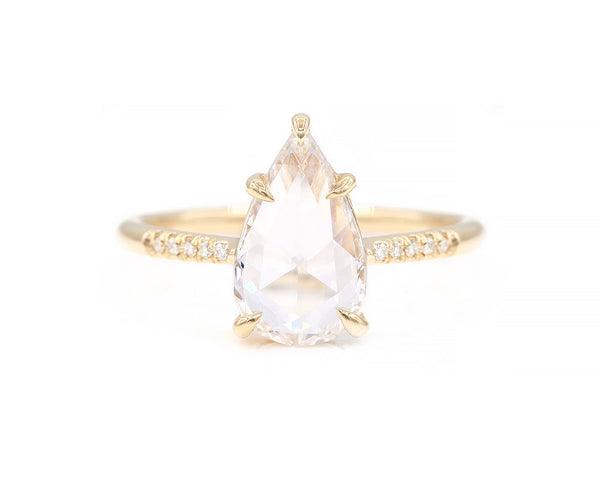 Everett Fine Jewelry 1.14-Carat Pear Rose Cut Diamond Ring