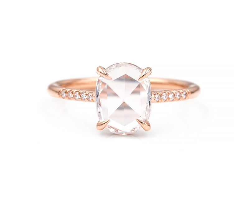 1.20-Carat Rose Cut Oval Solitaire