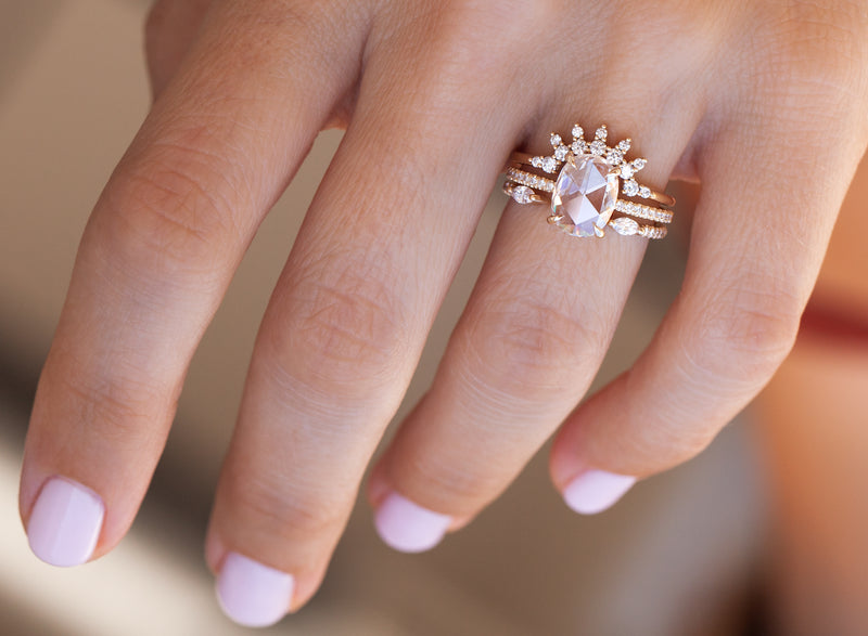 Ivy Ring with Pavé (size 6.5 in stock)