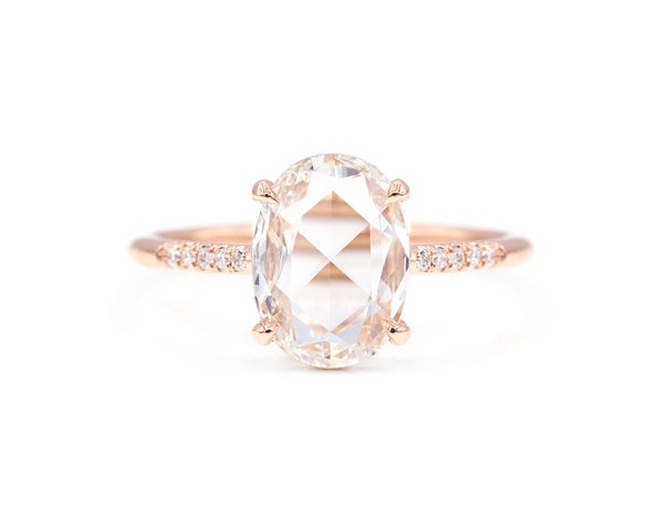 Everett Fine Jewelry 1.34-Carat Rose Cut Oval Diamond Ring