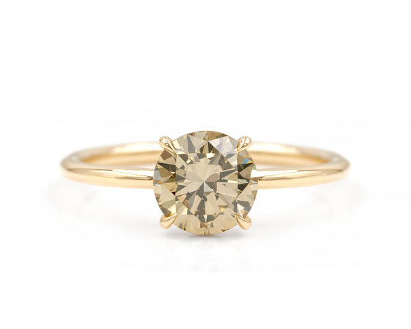 1.38-Carat Champagne Diamond Solitaire Ring