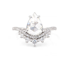 1.50-Carat Pear Diamond Coronet Ring