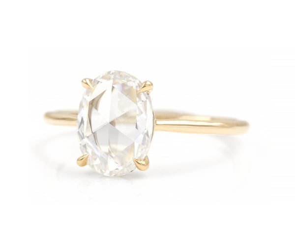 1.52-Carat Rose Cut Oval Solitaire