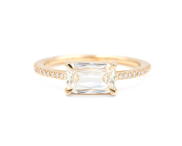 1.56-Carat Criss-Cut Diamond Ring
