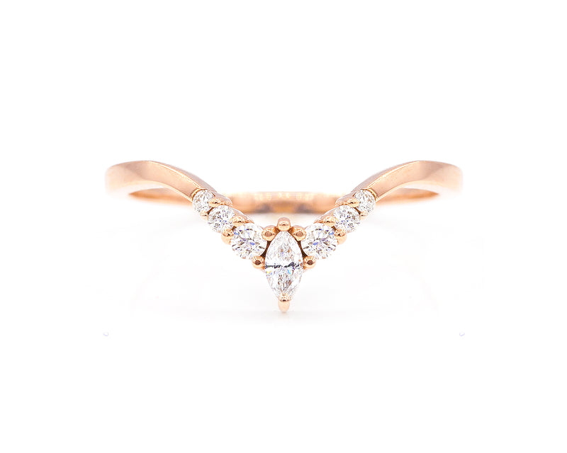 Everett Fine Jewelry Curved Marquise Band