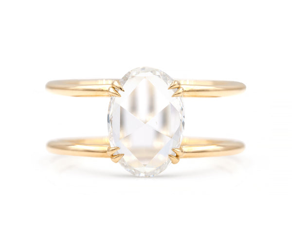 2.02-Carat Oval Diamond Clementine Ring
