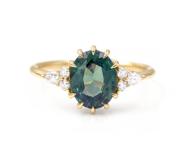2.22-Carat Teal Sapphire Marit Ring