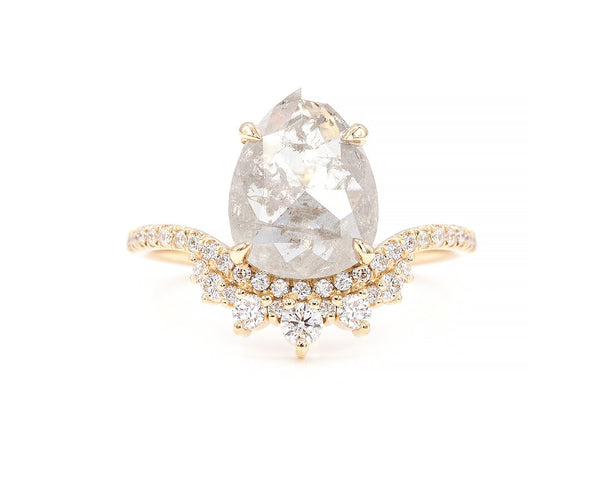Everett Fine Jewelry 2.38-Carat Grey Diamond Coronet Cluster Ring
