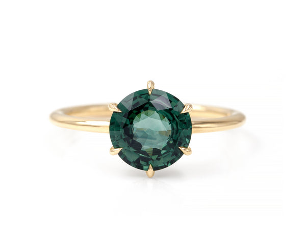 2.36-Carat Teal Sapphire Taylor Ring