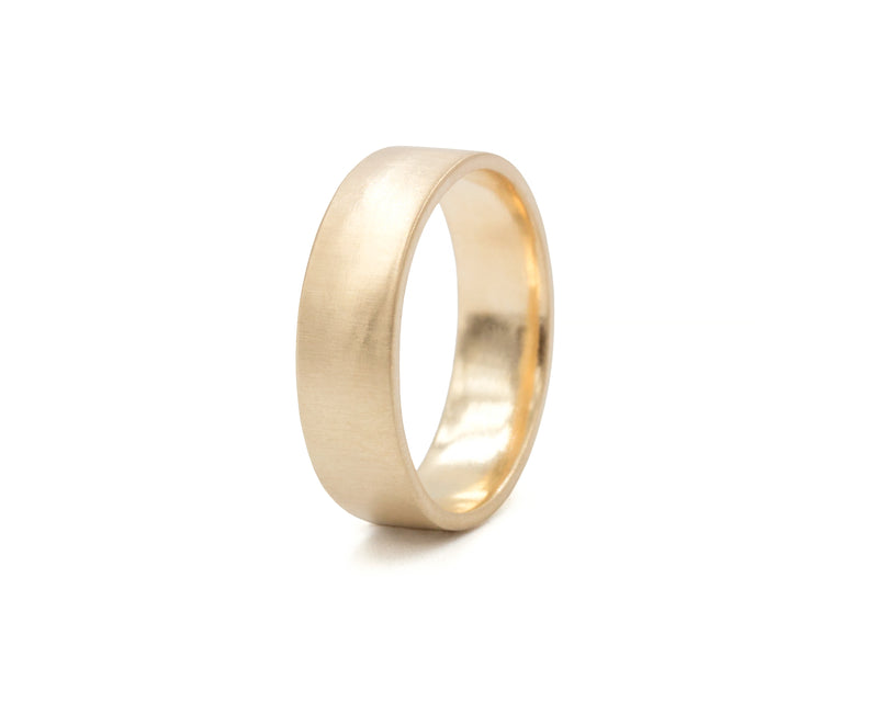 Everett Fine Jewelry 6mm Gold Flat Ribbon Band