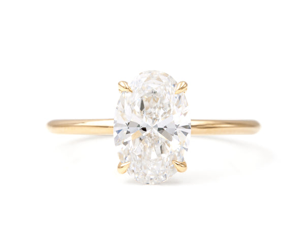 2.07-Carat Brilliant Cut Oval Diamond Solitaire