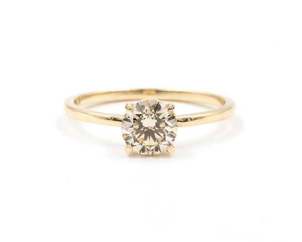 Everett Fine Jewelry 0.79-Carat Champagne Diamond Solitaire Ring
