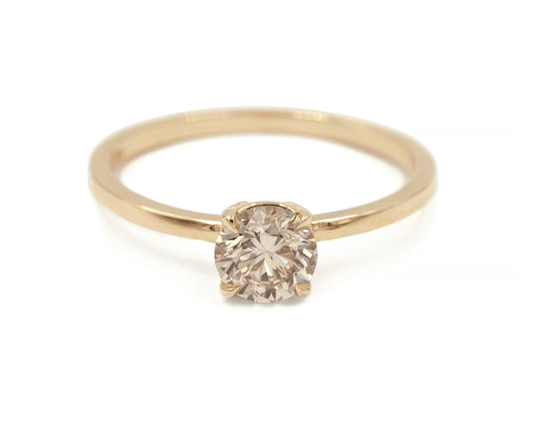 Everett Fine Jewelry 0.67 Carat Champagne Diamond Solitaire Ring