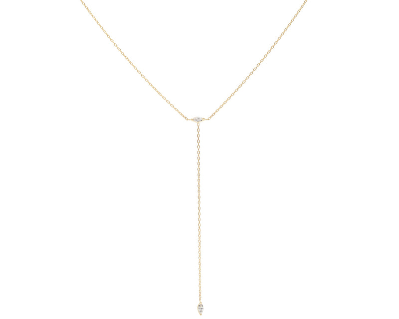 Everett Fine Jewelry Blue Hour Diamond Lariat Necklace