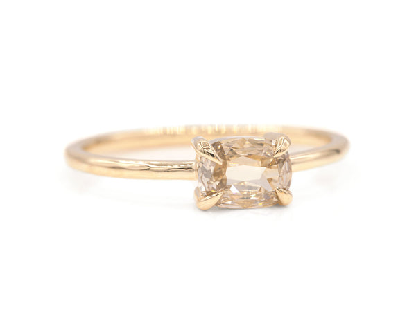 Everett Fine Jewelry East West Cushion Cut Champagne Diamond Ring