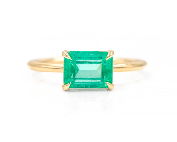 1.66-Carat Colombian Emerald Solitaire