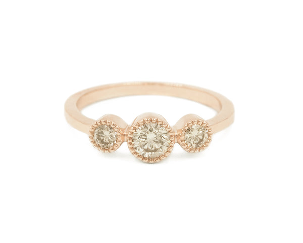 Champagne Diamond Eventide Ring (size 6.5 in stock)