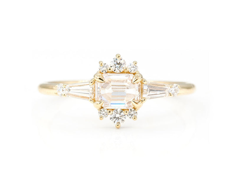 Everett Fine Jewelry Flora Inverted Diamond Ring