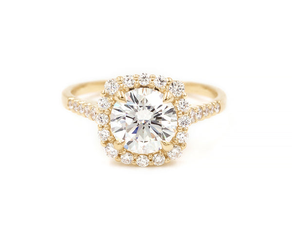 Everett Fine Jewelry 1.20 Carat White Diamond Halo Engagement Ring