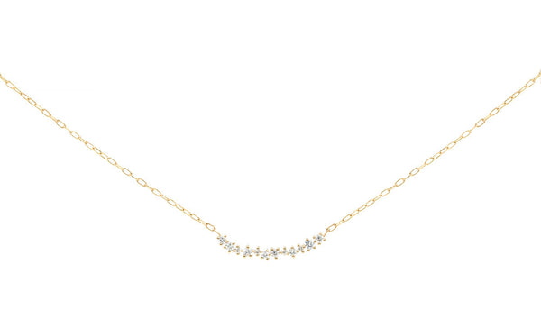Everett Fine Jewelry Aster Linear Cluster Necklace