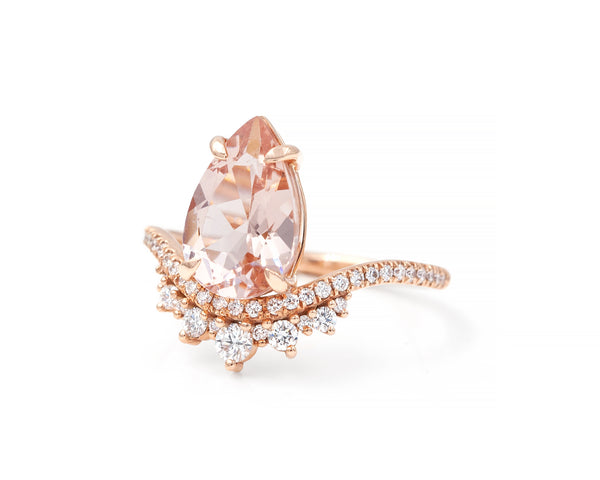 Morganite Coronet Ring