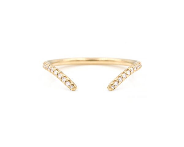 Equilibrium Open Pavé Band (14K Rose Size 6.5 in Stock)