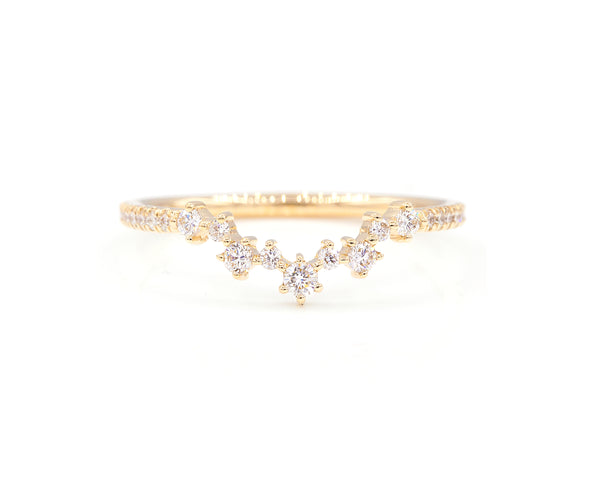 Everett Fine Jewelry Original Aster Band with Pavé