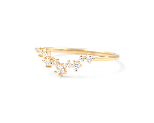 Original Aster Cluster Band (14K Yellow Size 7 in Stock)