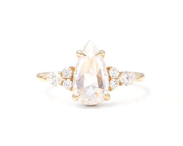 1.09-Carat Rose Cut Pear Ring