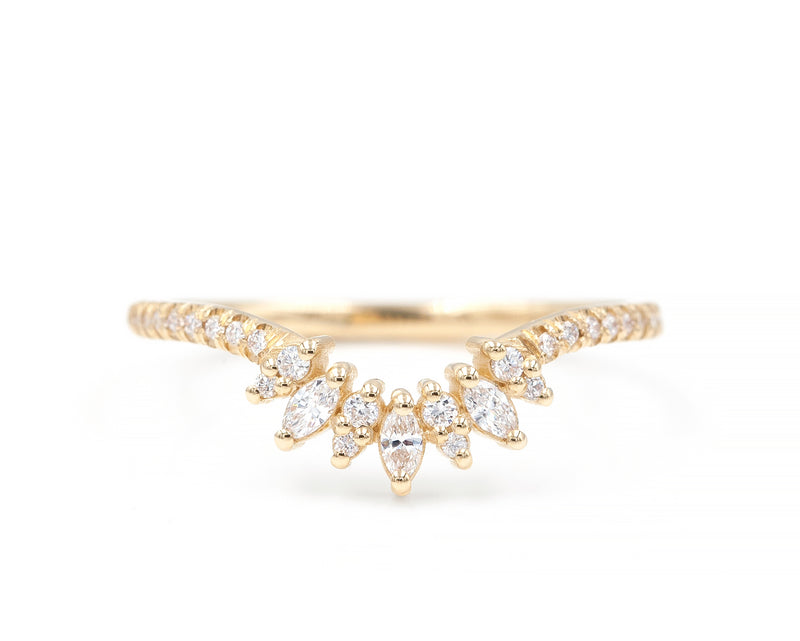 Petite Blossom Ring with Solid Band