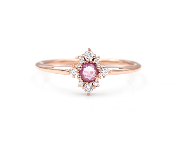 Pink Sapphire Andromeda Ring