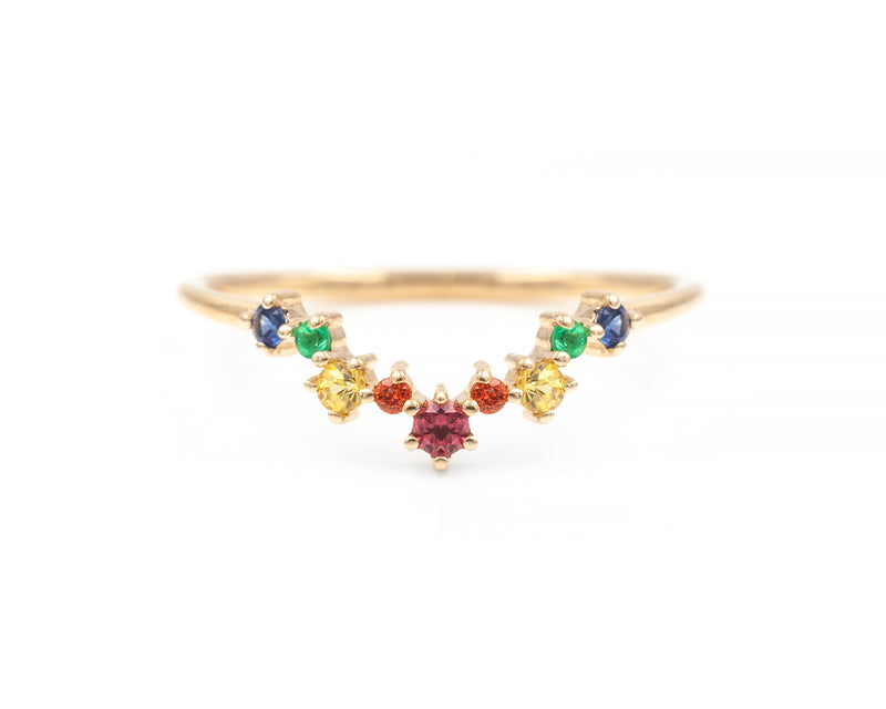 Rainbow Sapphire Aster Band