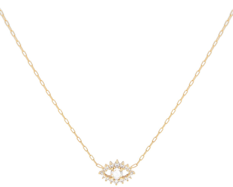 Everett Fine Jewelry Sullivan Rose Cut Diamond Necklace