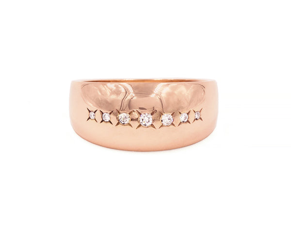 Everett Fine Jewelry Stars Aligned Diamond Band
