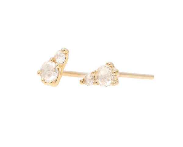 Everett Fine Jewelry Rose Cut White Diamond Studs