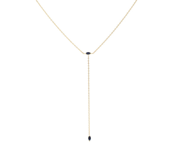 Everett Fine Jewelry Blue Hour Sapphire Lariat Necklace