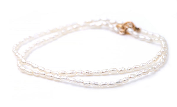 Two Strand Freshwater Seed Pearl Bracelet