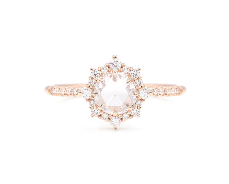 Everett Fine Jewelry Sienna Round Rose Cut Halo Ring
