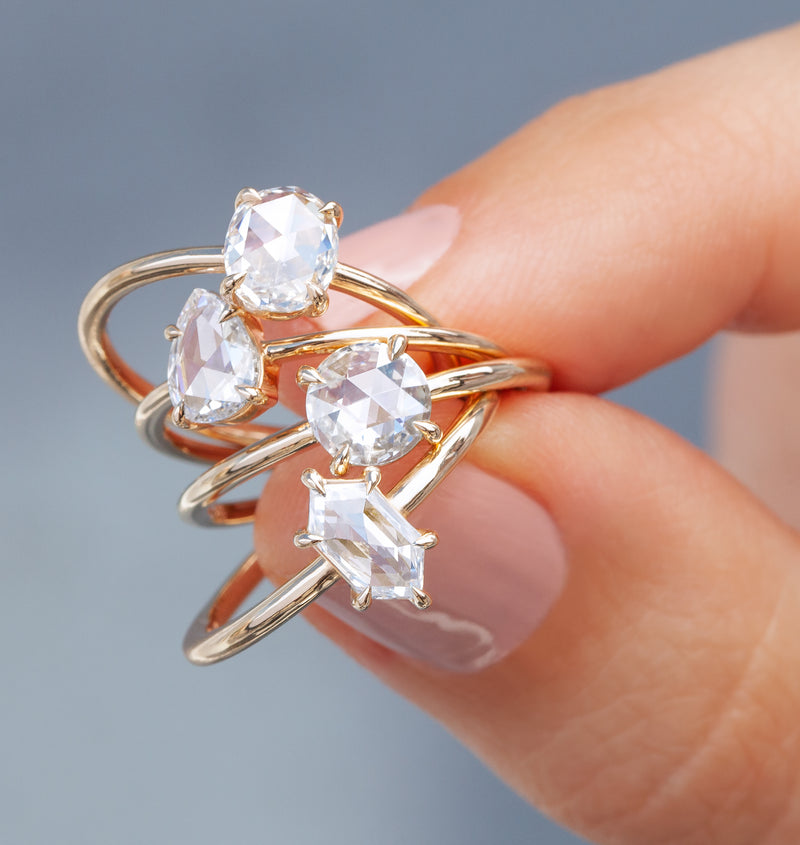 0.52-Carat Rose Cut Pear Solitaire